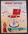 Magazine Ad for Shear Genius Season 2 TV Show, Jocelyn Smith, 2008