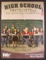 Magazine Ad for High School Confidential TV Show, Followed 12 Girls Through High School, 2008