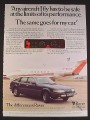 Magazine Ad for Rover British Car Automobile, Hawker Siddley Jet in Back with G-BDOA, 1974