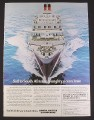 Magazine Ad for Union-Castle Line Cruise Ship, Sail To South Africa, 1975, 9 1/4 by 12 1/2