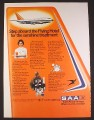 Magazine Ad for SAA South African Airways, 747 SP-44 Boeing, ZS-SPA, 1979, 9 1/4 by 12 1/2