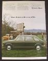 Magazine Ad for Austin Maxi British Car Automobile, Green 4 Door, Skeet Shooting, 1974