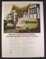 Magazine Ad for Mercedes Benz Ultra Autobahn British Car Automobile, 4 Berth Motor Caravan, 1974