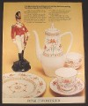 Magazine Ad for Worcester Royal Porcelain Bone China, Chamberlain Pattern, 1970, 10 by 12 1/2