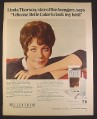 Magazine Ad for Belle Color Shampoo, Linda Thorson Star of Original The Avengers TV Show