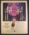 Magazine Ad for Spear & Jackson Cutlery, Merton, Trident, Woodrose, Cresta Patterns, British, 1970