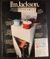 Magazine Ad for Jackson Hallmark Stove Range, 4 Burners, British, 1970, 10 by 12 1/2
