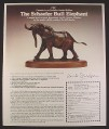 Magazine Ad for ATC The David Schaefer Bull Elephant Bronze Sculpture, 1985, 9 by 11