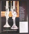 Magazine Ad for Faberge Crystal Candlesticks, Franklin Mint, 1988, 9 by 11