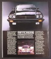 Magazine Ad for Jaguar XJ-S Car, V-12, Front View, 1988, 9 by 11