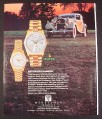 Magazine Ad for Rolex Day-Date & Lady Datejust Watches, 1928 Hispano Suiza Car, 1987, 9 by 11
