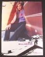 Magazine Ad for Billabong Denim, Tara Dakides Snowboarder, Celebrity, 2001, 8 3/4 by 11 3/4