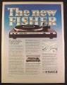 Magazine Ad for Fisher Linear Drive Quartz Lock MT6335 Turntable, Electronics, 1979