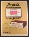 Magazine Ad for Hitachi SR-604 35 Watt Receiver, Electronics, 1979, 10 1/4 by 13 1/4