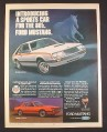 Magazine Ad for Ford Mustang Car, 2-Door & 3-Door Models, 1979, 10 1/4 by 13 1/4