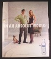 Magazine Ad for Absolut Vodka, Pregnant Man, In An Absolut World, 2007, 10 by 12