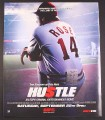 Magazine Ad for Hustle, ESPN TV Movie, Tom Sizemore, 2004, 10 by 12