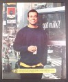 Magazine Ad for Got Milk, Carson Daly, 2001, 10 by 12