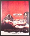 Magazine Ad for Blow Movie, Johnny Depp, Penelope Cruz, 2001, 10 by 12