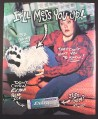 Magazine Ad for Extra Polar Ice Gum, It'll Mess You Up, Girl with Furry Leg, 2000, 10 by 12