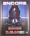 Magazine Ad for Eminem, Encore the new Album, 2004, 10 by 12