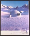 Magazine Ad for Everest Powerful Mint Gum, Igloo With Air Conditioner, Some Like It Cold, 2001