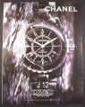 Magazine Ad for Chanel J12 Automatic Sport Watch, Larger Size Ad, 2001, 10 by 13 1/8