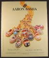 Magazine Ad for Aaron Basha Baby Shoes Jewelry, 2002, 10 by 12