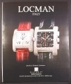 Magazine Ad for Locman Italy Quadrato Diamond Aluminum Watches, 2003, 10 by 12