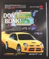 Magazine Ad for Dodge SRT-4 Sport Compact Car, Turbocharged, 2003, 10 by 12