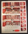 Magazine Ad for Rubbermaid Kitchen Organizers, Kitchen Full, 1967, 10 1/2 by 13 1/4