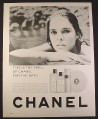 Magazine Ad for Chanel No 5 Bath Products, Ali MacGraw, Celebrity, 1966, 10 1/2 by 13 1/4
