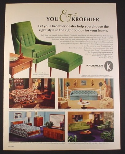 Magazine ad for kroehler furniture signature cape cod for P s furniture flyer