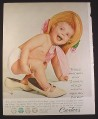 Magazine Ad for Carter's Spanky Pants, Underwear for Children to Adults, Baby in Mom's Shoes