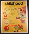 Magazine Ad for Playskool Toys, McDonalds Restaurant, Drum Top Cars, 1974, 10 1/2 by 12 3/4