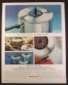 Magazine Ad for Supreme Hallmark Aluminum Cookware, Change The Trim, 1964