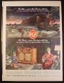 Magazine Ad for WWII Era RCA Radios & Phonographs, War Bonds, 1944, 10 1/2 by 13 3/4