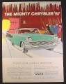 Magazine Ad for Mighty Chrysler '57 Car World's Most Modern Motor Car, 1954 10 1/2 by 13 7/8