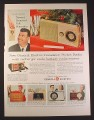 Magazine Ad for GE General Electric Transistor Pocket Radio & Recharger, 1954, 10 1/2 by 13 7/8