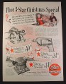 Magazine Ad for Thor Power Tools, Saw Sander Drill, Christmas Special, 1954, 10 1/2 by 13 7/8
