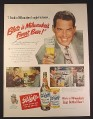 Magazine Ad for Blatz Beer, Bottle & Can, Fred MacMurray, Celebrity, 1949, 10 1/2 by 13 7/8