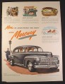 Magazine Ad for Mercury Cars, More of Everything You Want, 1946, 10 1/2 by 13 7/8