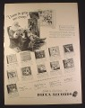 Magazine Ad for Decca Records, 11 Christmas Albums, Santa Claus, 1946, 10 1/2 by 14