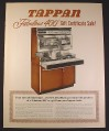 Magazine Ad for Tappan Fabulous 400 Reach-In Oven, Double Oven & Range, 1963