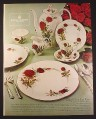 Magazine Ad for Royal Albert Bone China, Royal Canadian Rose Pattern, 1968, 10 1/4 by 13 1/4