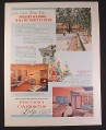 Magazine Ad for Pocono Gardens Lodge, Honeymoon Estate, Travel, 1958, 9 3/4 by 12 7/8