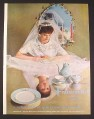 Magazine Ad for Franciscan's Finest China, Bride, 1958, 9 3/4 by 12 7/8