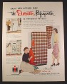 Magazine Ad for International Harvester Decorator Refrigerator Fridge, 1953, 10 1/2 by 13 3/4