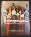 Magazine Ad for Bulova Caravelle Watches, 7 Models, Scuba, How to Tell Time, 1972
