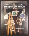 Magazine Ad for Bulova Caravelle Watches, 7 Models, Price Tags, 1972, 10 1/4 by 13 1/4